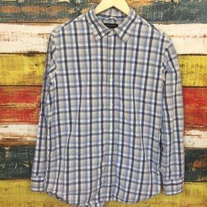 Banana Republic Soft Wash Plaid Button Down Shirt